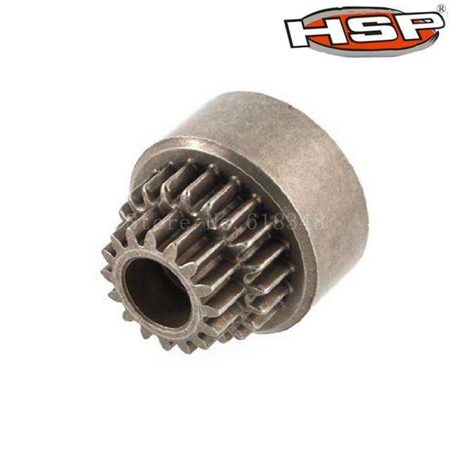 Clutch Bell Double Gears 16T 21T HSP 02023 1/10 Nitro Power RC Car On / Off Road Buggy SONIC XSTR Warhead Fit Redcat Exceed hsp 02023 clutch bell double gears 1p rc 1 10 scale car buggy original parts