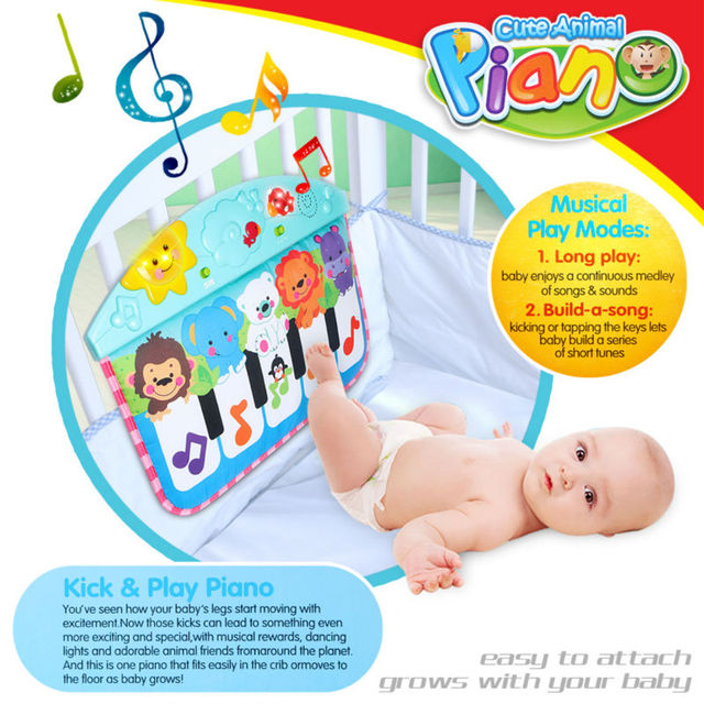 62c3adc3666 Baby Music Carpet Piano MatMultifunctional Baby Piano Fitness Rack Soft Mat  Piano Music Play Mat Educational