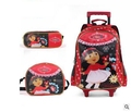 Girl's Travel luggage Trolley School Bag with wheel Kids Rolling Bag on wheel Dora Children trolley School Backpack Set for girl