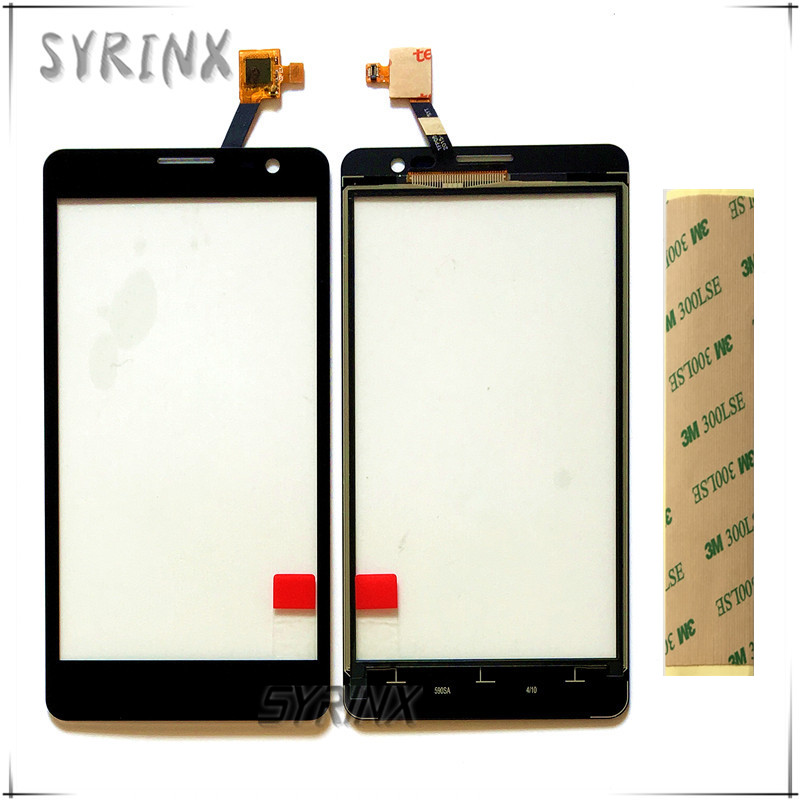 Syrinx With 3M Tape Touch Screen Digitizer For Uhappy UP520 Mobille Phone Front Glass Sensor Panel Touchscreen Free Shipping