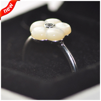 Luminous Florals Rings With Mother Of Pearl 100 925 Sterling Silver Fine Jewelry Free Shipping