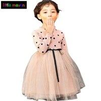 Polka Dot Dress Girls Children Clothing Kids Tutu Dress For Cute Baby Wedding Birthday Party Girls