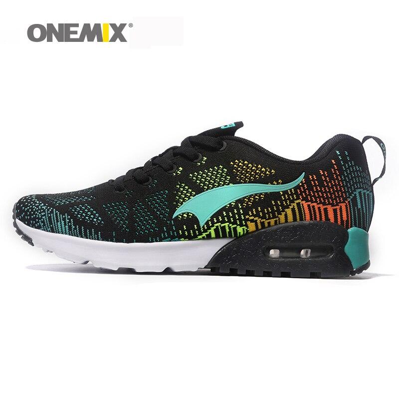 Onemix venta caliente zapatos para correr para hombre y mujeres de malla transpi
