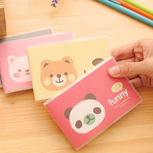 4pcs/lot 10.6*7.2cm Animal Notepad Glove Book Portable Student Takes Small Stationery Notebook