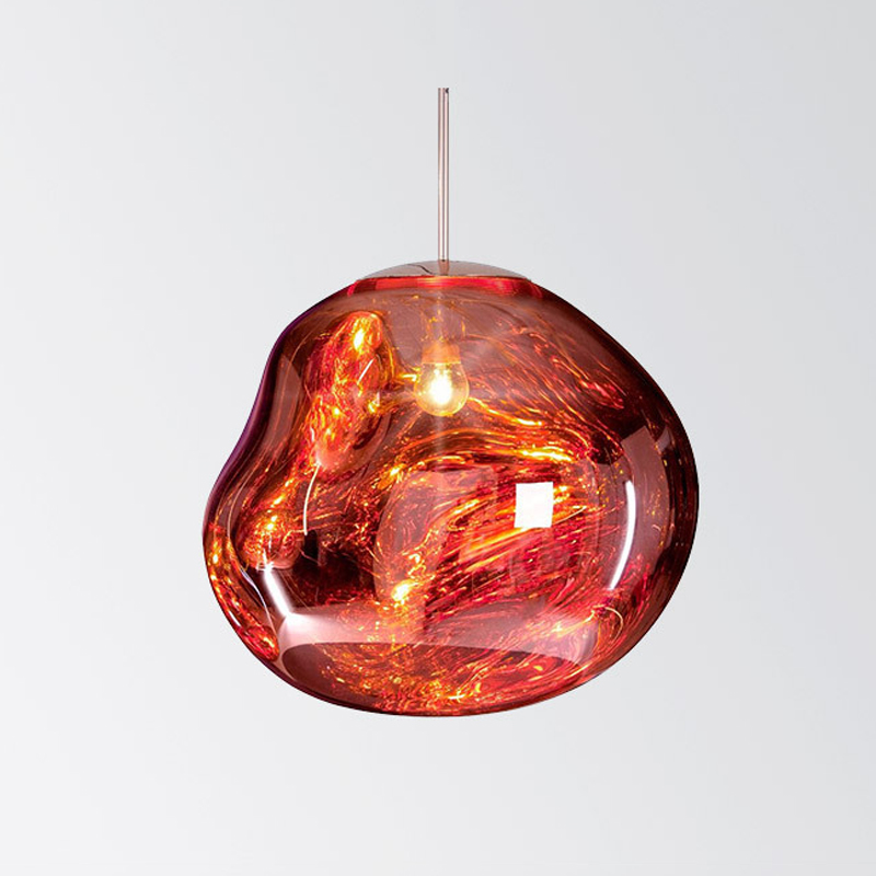 Vintage Irregular glass Pendant Light Hanging lamp Russia Loft Luminaire Modern Kitchen Dining Bedroom Lamp E27 Lampholder