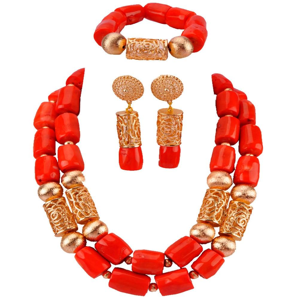 Fashion African Wedding Women Orange Coral Beads Jewelry Set New Costume Bridal Necklace Set Hot RCBS10Fashion African Wedding Women Orange Coral Beads Jewelry Set New Costume Bridal Necklace Set Hot RCBS10