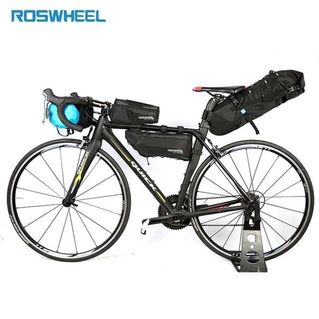 Mutifunction Bicycle Bag Bike Head Front Tube Triangle Waterproof Nylon Tail Saddle Bag Pannier Cycling Rack Storage Folding Bag