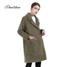 Women Cashmere Overcoat Coat