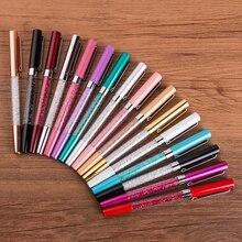 0.5mm Crystal Gel Pen Colorful Crystal Black Ink Diamond Pen Rollerball Pen Office School Stationery