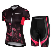 цена на 2019 Pro Cycling Clothing Cycling Sets Bike uniform Summer Women Cycling Jersey Set Road Bicycle Jerseys MTB Bicycle Wear Bib