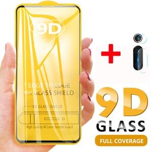 2 in 1 9D Full Glue Glass For Xiaomi Mi 9T Pro Mi9t Redmi K20 Pro Screen Protector Redmi K20 Pro 9H Tempered Glass + Camera Film(China)