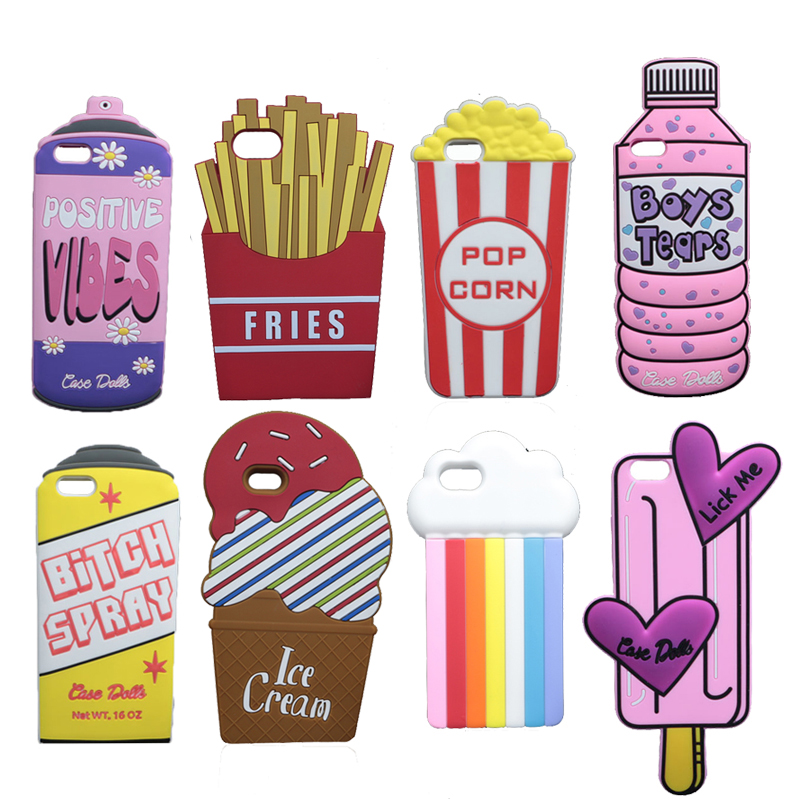Buy 3d cute spray paint soft case for for Spray paint iphone case