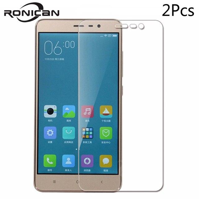 2Pcs Special Edition Für Xiaomi Redmi Hinweis 3 Pro Gehärtetem Glas Screen Protector Film Xiomi Redmi Hinweis 3 Spezielle version 152 mm