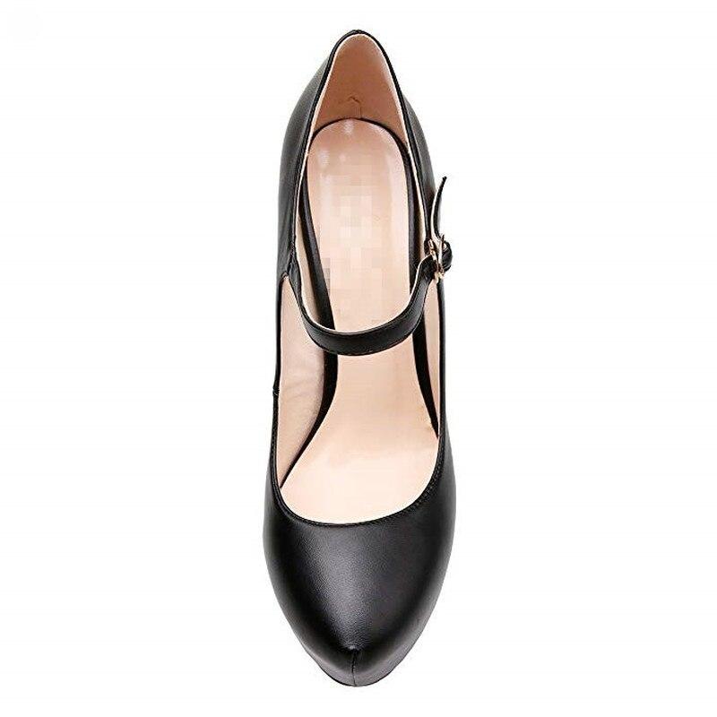 Haute Bout forme Femme noir 16 Qualité Mode Talons Noir Rond Pompes Beige De Plate Pour Chaussures Cm Soirée Salu Dames Bdq8Rxd