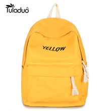 e51ac72a15c2 New Fashion Backpack for Women Leisure Trip Rucksacks Back Pack for Girls  Teenager Yellow Color Laptop