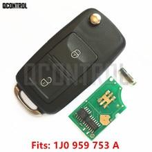 QCONTROL clé télécommande pour serrure de porte de voiture VW/VOLKSWAGEN Lupo Bora Passat Polo Golf coccinelle 1J0959753A / HLO 1J0 959 753 A