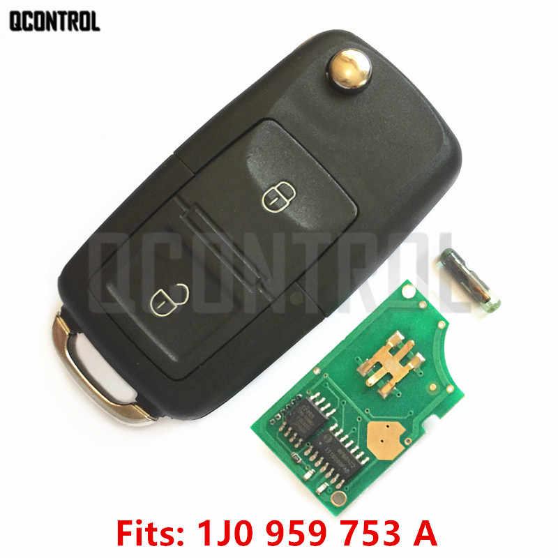 QCONTROL Автомобильный Дверной замок дистанционного ключа обновления для VW/VOLKSWAGEN Lupo Bora Passat Polo Golf Beetle 1J0959753A/HLO 1J0 959 753 A