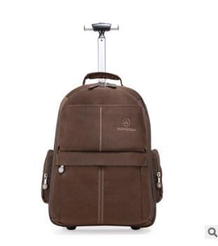 Degli uomini di Oxford trolley Da Viaggio Dei Bagagli con ruote di Rotolamento Borse Da Viaggio delle donne di Affari del carrello di Rotolamento sacchetto dei bagagli valigia su ruote-in Borse da viaggio da Valigie e borse su  Gruppo 1