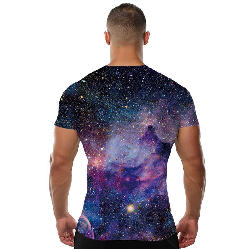 KYKU Galaxy t-shirt hommes/femmes univers espace t-shirt Hip Hop t-shirt impression 3d t-shirt Cool hommes vêtements 2018 été Hiphop vêtements