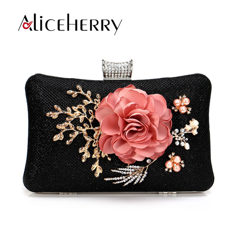 Luxury Designer Women Flower Clutches Evening Bags Handbags Wedding Clutch Purse