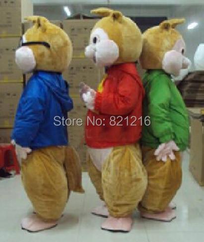 Nieuwe Alvin en de Chipmunks Mascot Costume Alvin Mascot Costume - Carnavalskostuums - Foto 3