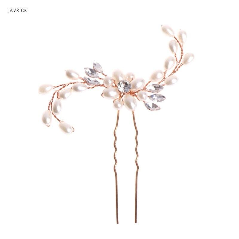 Fashion European style bridal hair stick pageant Hairpins Wedding party headpiece pearl Hair Pins hair jewelry Hair Accessories
