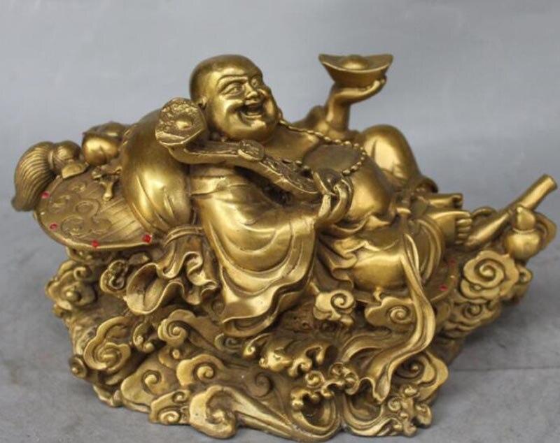 10 Chinese Bronze Wealth Yuanbao Money Happy Laugh Maitreya Buddha Ruyi Statue Decoration Crafts 10 Chinese Bronze Wealth Yuanbao Money Happy Laugh Maitreya Buddha Ruyi Statue Decoration Crafts