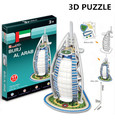 Puzzle 3D Cubicfun Cardboard Model Toy BURJ AL ARAB World Famous Building Assembly DIY Toys For Kids