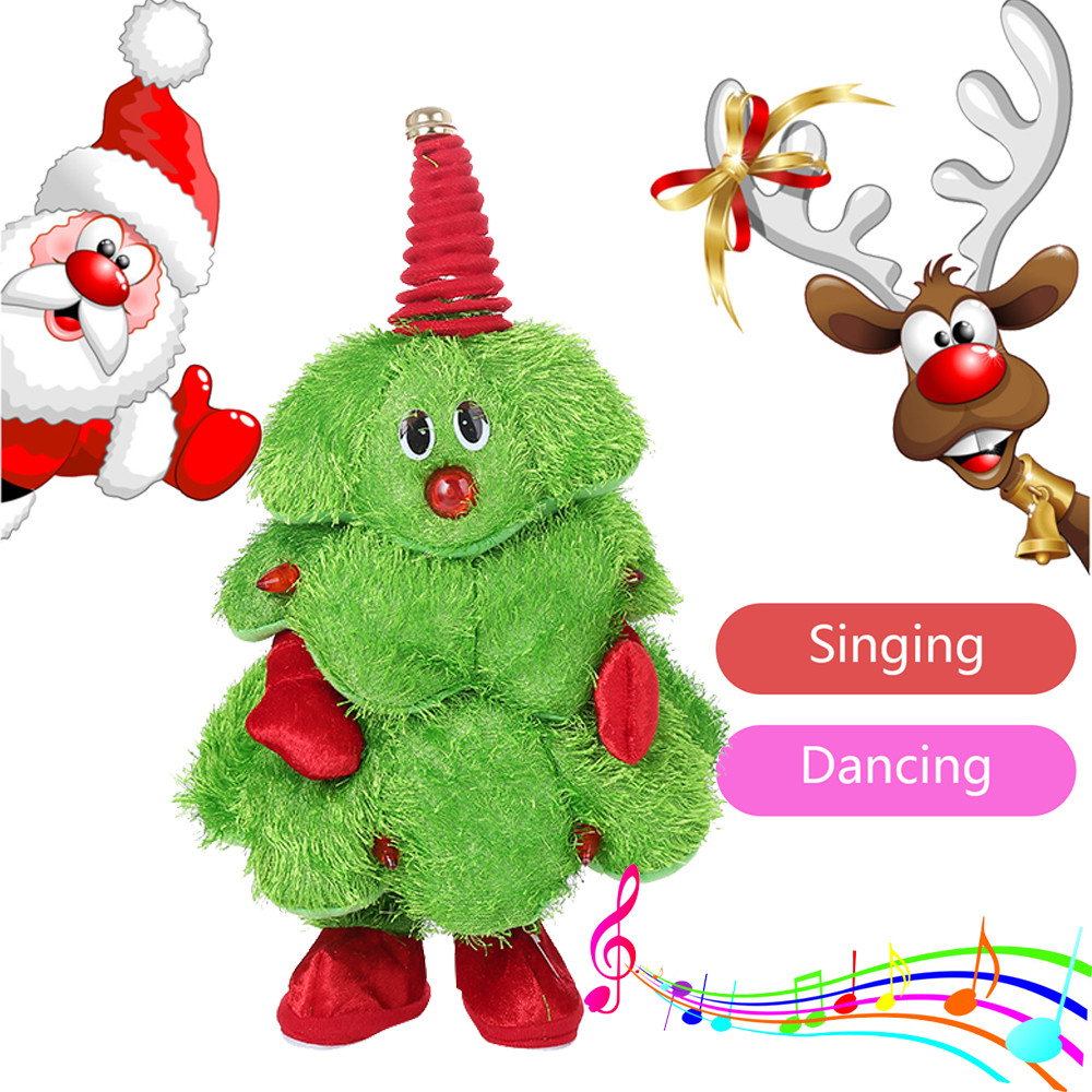 Plush-Toy Singing-Animated Christmas-Trees Dancing Electric Cartoon Cute New-Style