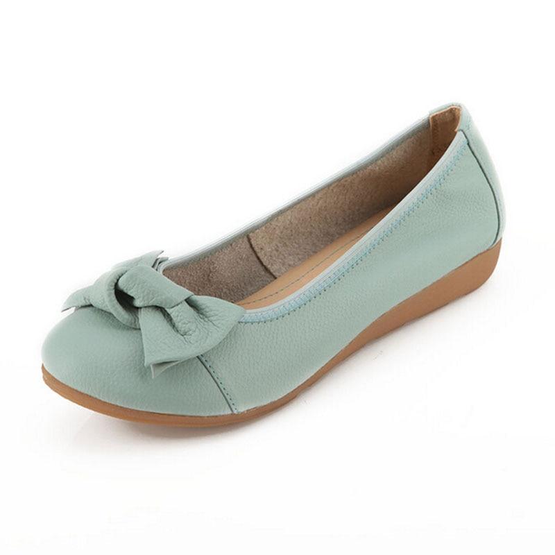 Rond Z151 bleu Plat Marine Zapatos Mode Bout Cuir bleu Casual D'été multi Noir En Appartements Femmes Mujer Simples Ballet Véritable Automne Chaussures paqwYP