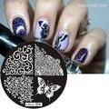2016 Горячая Исключительно hehe-04 Бабочки Nail Art Image Stamp Штамповка Плиты Маникюр Шаблон Nail Art Инструмент 1 ШТ.