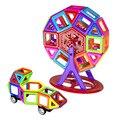Mini magnetic designer de construção tijolos de brinquedo crianças brinquedos educativos criativos enlighten blocos de construção magnético