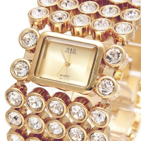 Ouro para Mulheres Relógios de Pulso de Quartzo Marca de Luxo Senhora Pulseira Relógios Dress Ver Relojes Mujer Relógio Feminino Presentes 2020g & d Top