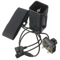 Leory防水軽量プラスチック4 × 18650バッテリーパックケースハウスカバー付きストラップ用バイクライトランプと携帯電