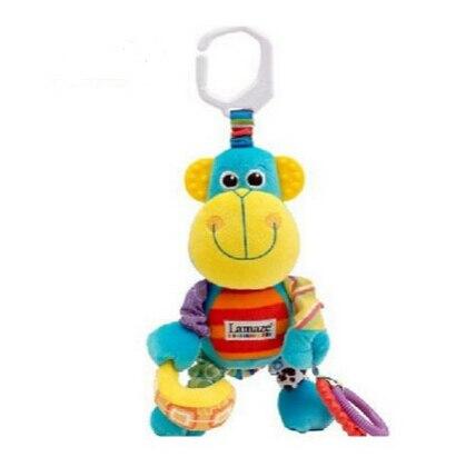 Кэндис го! горячая продажа супер мило многофункциональный обезьяна кровать повесить колокол со звуком бумаги ребенок плюшевые игрушки подарок мобильный 1 шт.
