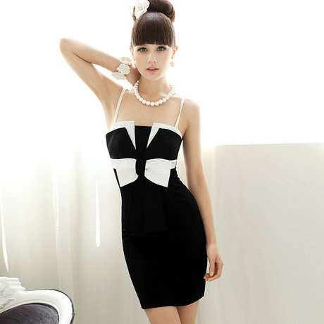 403a4c942f Online Shop Free shipping Black white bowknot bustier women strap Dress,  high quality material dress, elegant party dress | Aliexpress Mobile