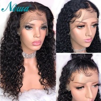 New 370 Lace Front Human Hair Wigs Pre Plucked With Baby Hair Brazilian Remy Hair Curly Lace Frontal Wig For Black Women NYUWA