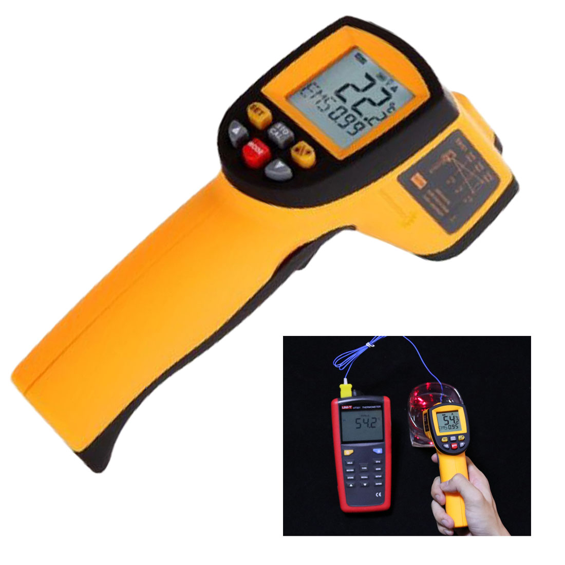 Digital Infrared Thermometer GM900 Laster Temperature Meter Non-contact LCD Gun Style Handheld -50-950C -58-1742F Pyrometer