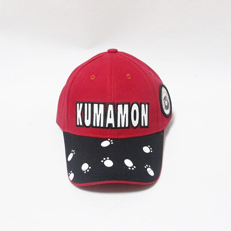 Cute Kumamon Paw Children Ponytail Baseball Caps Casual Outdoor Kids Hat A Cap Boys Girl Panama Bone Cartoons Snapback Cap