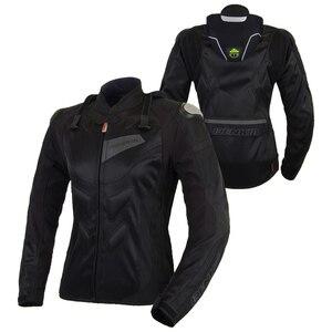 Image 3 - BENKIA chaquetas para motocicleta para mujer, chaqueta de Motocross, equipo de protección, carreras, transpirable, a prueba de viento, para primavera y verano