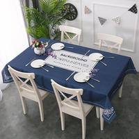 High Quality Cotton Linen Table Cover Tablecloth Geometric Printed Thicken Table Cloth for Dining Table Decoration Free Shipping