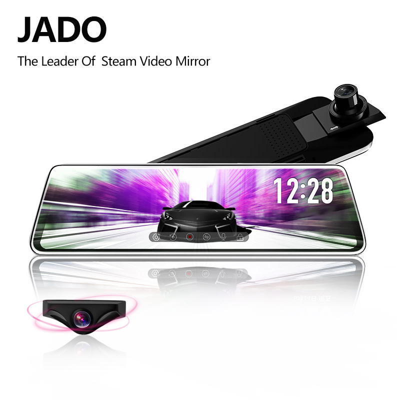 JADO D230 Stream RearView Mirror Dvr dash font b Camera b font avtoregistrator 10 IPS Touch