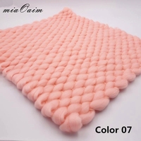 5pcs/lot 45x40cm Handmade Lopi Acrylic Blanket Basket Stuffer Filler Newborn Baby Photography Backdrops Studio Props Shower Gift