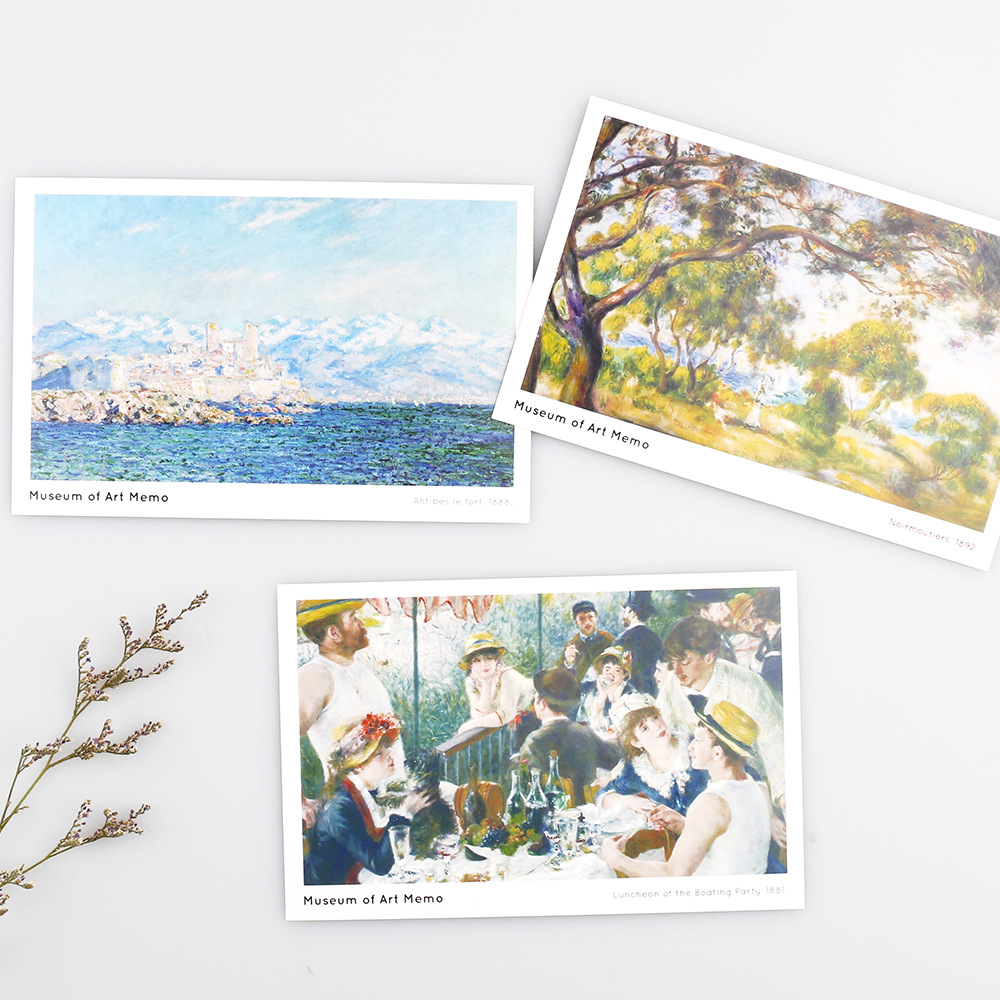 30 Pcslot Art Series Famous Paintings Postcard Greeting Card