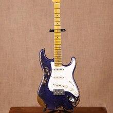 Новый стандартный заказ ST 6 stings электрогитара, клен гриф гитары ra, stratocastre gitaar, реликвии руками, фиолетовый цвет