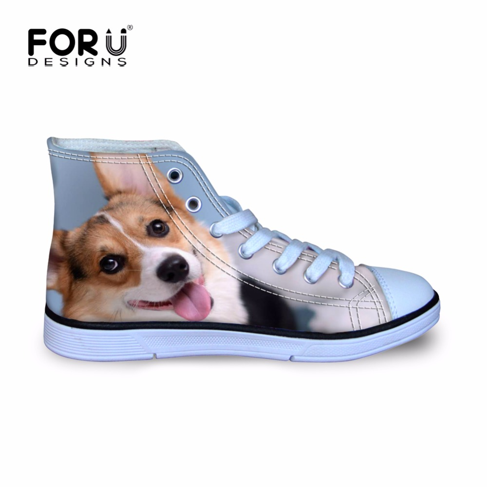 FORUDESIGNS Girls Sport Walking Shoes Welsh Corgi Pembroke New 3D Printing Sneakers Toddler Little Kid Autumn Outdoor Shoes Boys 2016 winter new soft bottom solid color baby shoes for little boys and girls plus velvet warm baby toddler shoes free shipping