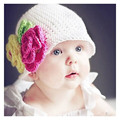 Hot Fashion 2017 Baby Bebe Girl Newborn Toddler Kids Crochet Knit Flower Hat Cap Beanie Girls BB New Hats Caps Hair Accessories