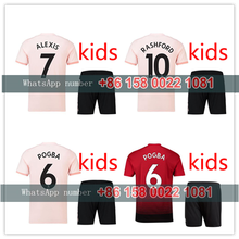 f4ccbb730 2019 Manchestered United kids kit soccer Jerseys home away third 18 19 child  suit POGBA Football shirt Uniforms LITTLE boys