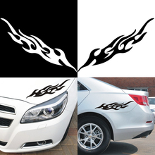 Universal Engine Hood Vinyl Covers Auto Flame Fire Car-styling Sticker