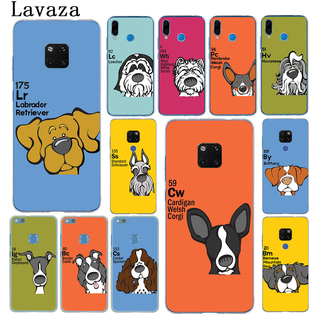 Lavaza Periodic table of ele ments dog Phone Case for Huawei Nova 4 3i 3 2i Lite 2017 Cover for Huawei Mate 20 10 P20 Pro Lite